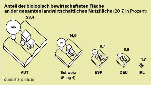 Wieviel Bioland gibt es in der Schweiz im Vergleich? (Bild: Lea Siegwart)
