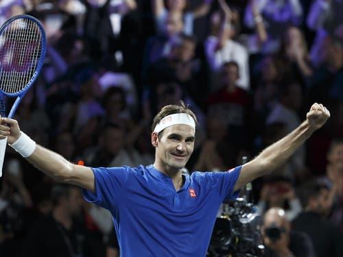 Roger Federer gewann sein erstes Einzel am Laver Cup (Bild: KEYSTONE/EPA KEYSTONE/SALVATORE DI NOLFI)