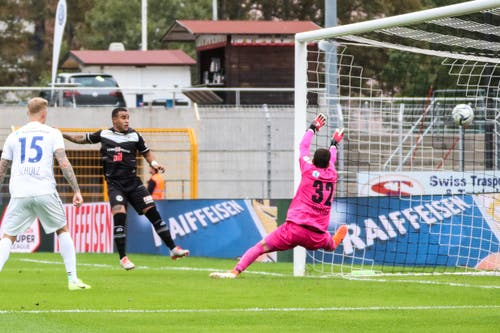 Hier trifft Carlinhos zum 1:0. (Bild: Marusca Rezzonico/freshfocus, Lugano, 22. September 2019)