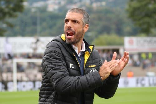 Lugano-Trainer Fabio Celestini konnte mit dem Start seines Teams zufrieden sein. Allerdings wurde der Gast aus Luzern schon bald stärker. (Bild: Marusca Rezzonico/freshfocus, Lugano, 22. September 2019)
