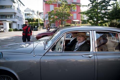 Initiator + Vize-Präsident Alfred Gut im Daimler 420 Sovereign 1968 (Bild: Corinne Glanzmann, Horw, 22. September 2019)