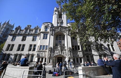 Hier wird der Entscheid gefällt: am UK Supreme Court, dem höchsten Gericht des Vereinigten Königreichs. (Bild: Keystone)