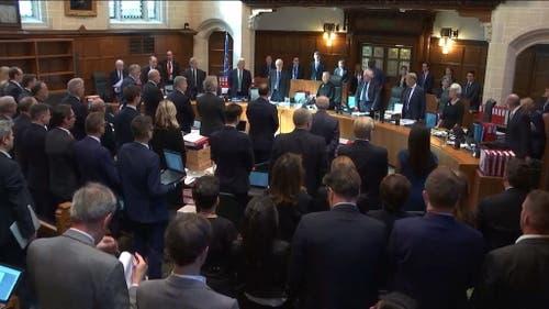 Der Court Room Number One. Hier wurde die Verhandlung geführt. Ebenfalls hier wird das Urteil verlesen. (Bild: Keystone)