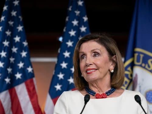 Die Sprecherin des Repräsentantenhauses, die Demokratin Nancy Pelosi, warf dem Weissen Haus explizit «Vertuschung» vor. (Bild: KEYSTONE/AP/J. SCOTT APPLEWHITE)