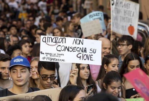 In Rom gingen ebenfalls Studenten auf die Strasse. (Massimo Percossi/ANSA via AP)