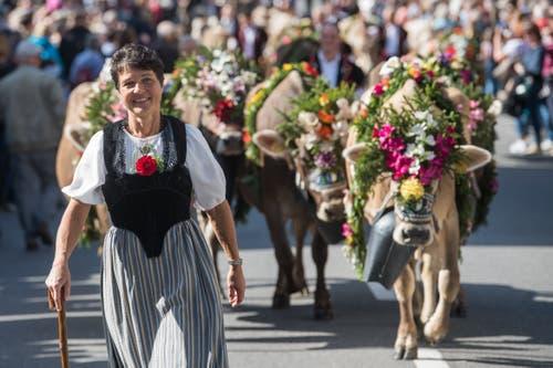 Familie Distel von der Alp Hintersteinetli. (Bild: Boris Bürgisser)