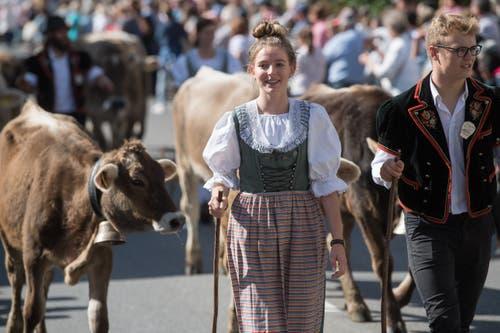 Familie Portmann von der Alp Äbnistettili. (Bild: Boris Bürgisser)