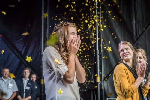 Die neue Apfelkönigin heisst Larissa Häberli aus Mauren Berg. (Bild: Andrea Stalder)