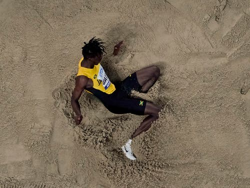 Tajay Gayle zeigte den Wettkampf seines Lebens (Bild: KEYSTONE/AP/MORRY GASH)