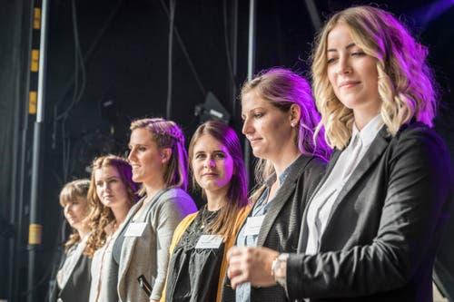 Sechs Kandidatinnen stellten sich zur Wahl. (Bild: Andrea Stalder)