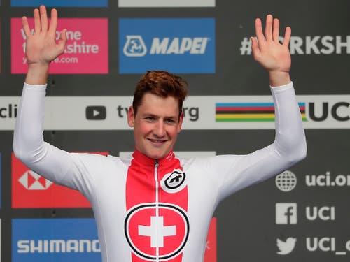 Der 25-jährige Thurgauer sorgte für den ersten Schweizer Medaillengewinn in einem WM-Strassenrennen seit zwanzig Jahren. Markus Zberg gewann 1999 in Verona Silber (Bild: KEYSTONE/AP/MANU FERNANDEZ)