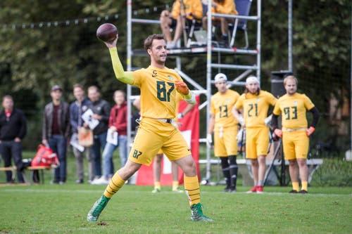 Jerome Balsiger am Ball (Bild: Manuela Jans-Koch, Luzern, 28. September 2019)