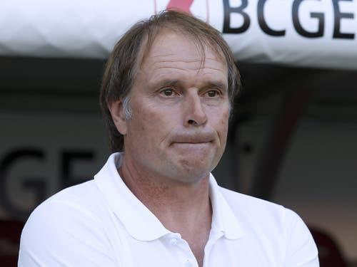 Alain Geiger erlebt die erste Baisse in seiner Zeit als Servettes Trainer (Bild: KEYSTONE/SALVATORE DI NOLFI)