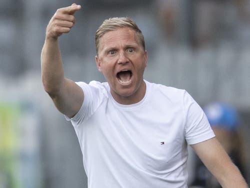 Marc Schneider ist wohl auch als Trainer des Schlusslichts (Thun) nicht gefährdet (Bild: KEYSTONE/PETER SCHNEIDER)