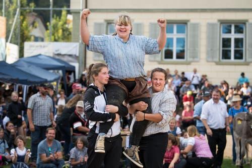 Der Schlussgang gewinnt Angela Riesen aus Helgisried. (Bild: Eveline Beerkircher, Menznau, 29.9.2019)