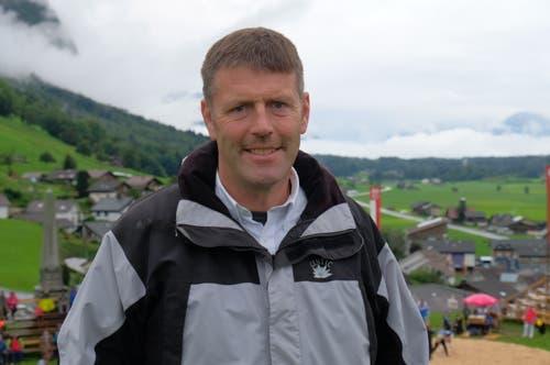 Werner Durrer OK-Präsident: «Wir sind einige Familien aus Schwingerkreisen, die hier seit Jahren im Einsatz sind.». (Bild: Richard Greuter, Ennetmoos, 8. September 2019)
