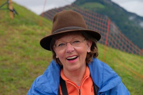 Lisbeth Gabriel, alt Regierungsrätin: «Es ist der krönende Abschluss einer Schwingerkarriere.» (Bild: Richard Greuter, Ennetmoos, 8. September 2019)
