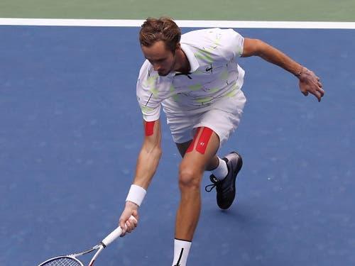 Das US Open dürfte nicht sein letzter Grand-Slam-Final gewesen sein: Daniil Medwedew (Bild: KEYSTONE/EPA/BRIAN HIRSCHFELD)