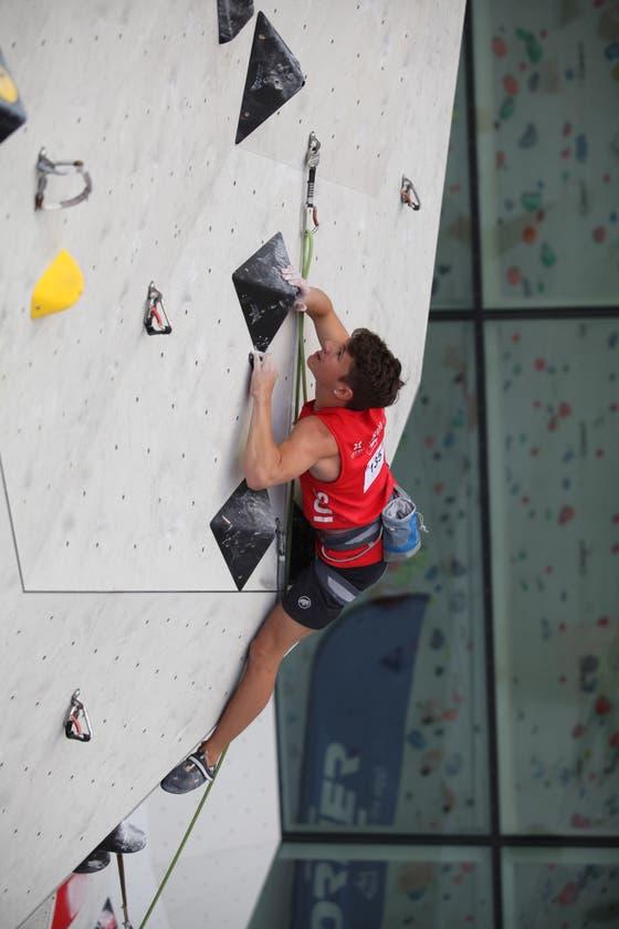 Fabrice Rohner kletterte am Jugend-Europacup im italienischen Bruneck auf Platz zwei. (Bild: PD)