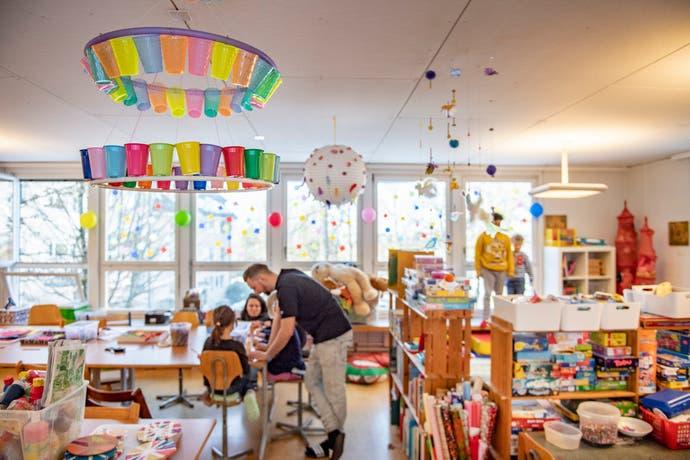 Der private Hort im Riethüsli bietet derzeit Platz für maximal 16 Kinder. (Bild: Urs Bucher)
