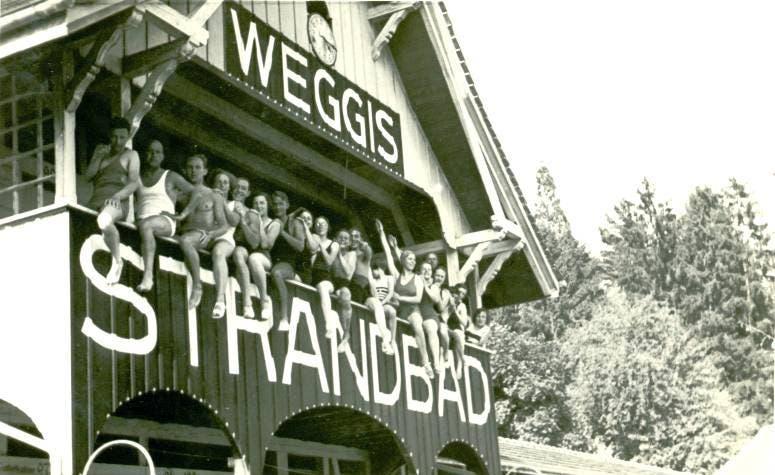 Lido-Eröffnung im Jahr 1919. (Bild: Gemeinde Weggis)